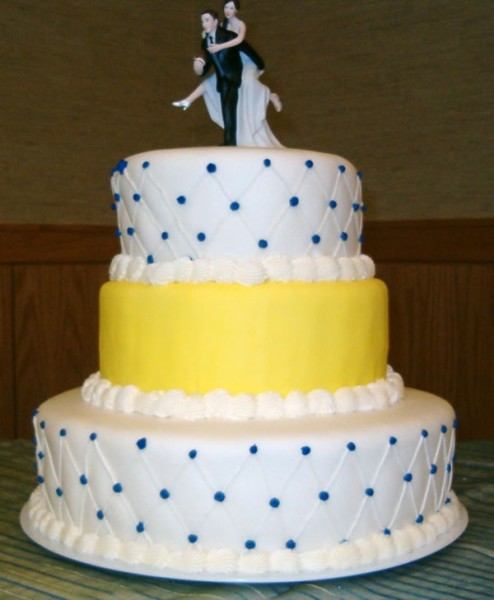Tiered Cake Blue And Red